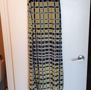 Nasty Gal long yellow maxi skirt with slit EUC